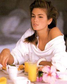Good Morning Cindy! ☕️ #cindycrawford #80s #eighties #glam #glamfashion #glamour #80smodel #neontalk #synthwave #newretrowave