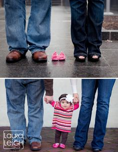 Baby before and after photo idea (Laura Leigh Photo)