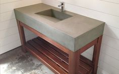 Terrific Free concrete Bathroom Sink Style If you opt for any new bathroom sink , you are going to very impressed at just what exactly a big difference you'll s Concrete Countertops, Furniture Diy, Diy Bathroom, Concrete Diy, Bathroom Sink Diy, Concrete Bathroom, Cement Bathroom, Bathroom Design, Bathroom Sink
