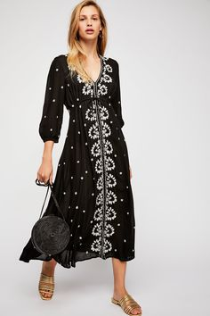 8e6f9079eeb Embroidered Fable Dress | Free People Flowing Wedding Dresses, Free People  Dress, Frocks,