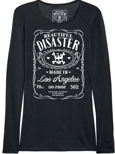 "Women's ""100 Proof"" Long Sleeve Thermal by Beautiful Disaster #InkedShop #thermal #top #womenswear #comfy"