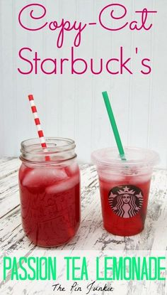 Starbucks Passion Tea Lemonade by The Pin Junkie ~ shared at Brag About It Link Party on (Monday's at Midnight). Summer Drinks, Fun Drinks, Healthy Drinks, Beverages, Cold Drinks, Bebidas Do Starbucks, Starbucks Drinks, Healthy Starbucks, Smoothies