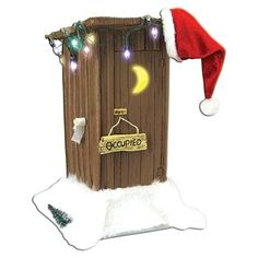 Santas Outhouse *** Want to know more, click on the image. (This is an affiliate link) #CollectibleFigurines
