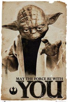 Star Wars Yoda May The Force Fotografia na AllPosters.com.br