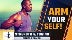Tone and strengthen your arms with these fitness combos and show them off! This workout is for everyone, men and women, who would like to shape up their arms and upper body as well as burning some calories. Toning Workouts, At Home Workouts, Workout For Beginners, For Everyone, Upper Body, Hiit, How To Stay Healthy, Burns, Strength