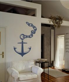 New! Anchor with Chain Decal Nautical Wall Art by EmpireCityStudios, $28.95