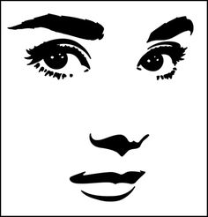 Rise Hall stencils from The Stencil Library. Buy from our range of Rise Hall stencils online. Page 1 of our Rise Hall star stencil catalogue. Star Stencil, Stencil Painting, Art Sketches, Art Drawings, Pop Art, Face Stencils, Stencils Online, Arte Tribal, Face Sketch
