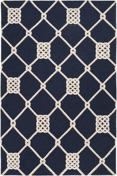 Tye Area Rug - Wool Rugs - Area Rugs - Rugs | HomeDecorators.com Navy 5x8'