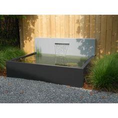 Aluminium vijverbak met waterval