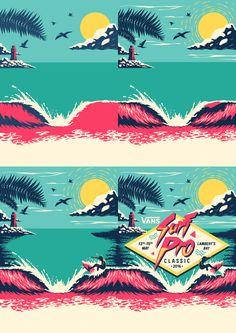 Vans Surf Pro Classic Illustration | abduzeedo.com