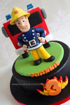 Fireman Sam - Cake by Zoe's Fancy Cakes
