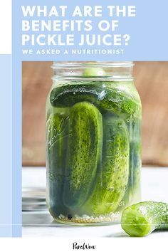 Pickle Juice Benefits, Kirby Cucumber, Fruits And Veggies, Vegetables, Homemade Pickles, Sports Drink, No Calorie Snacks, Health And Beauty, Health Tips