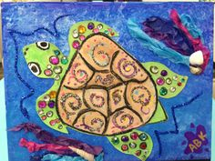 Bling Sea Turtle for an Arty Party