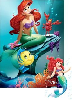 *FLOUNDER, ARIEL & SABASTIAN ~ The Little Mermaid, 1989