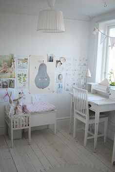 play and desk space - would love this for Adelyn's big girl room.