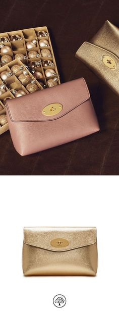 Mullberry handbags... Shop the Darley Cosmetic Pouch in Gold Metallic  Printed Goat Leather at Mulberry.com. 650c6e126afdd