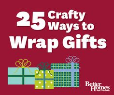 Use these creative ideas to wrap gifts for the #holidays, and all other occasions! More #handmade projects: http://www.bhg.com/crafts/easy/30-minute-projects/super-quick-gifts-to-make/