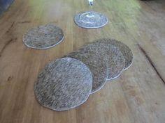 KUHIE®, Kuhfell Untersetzer rund 10 cm in beige