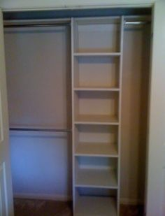 """Here's a great way to get some extra storage out of a standard 75"""" wide closet.  Items purchased were:  1 - 4x8 sheet of cabinet-grade plyw..."""