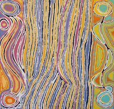 Judy Napangardi Watson - Mina Mina Jukurrpa (Mina Mina Dreaming), 2008 - 91 x 91 cm - Yuendumu / © The Artist and IDAIA - International Development for Australian Indigenous Art
