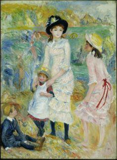 Children on the Seashore, Guernsey  Pierre-Auguste Renoir, c. 1883  Oil on canvas