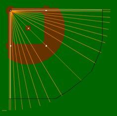 Basic Dimensions: Bases: 45 feet Mound-Plate: 32 feet Infield Depth: 47.5 feet Left Field Line: 120 feet Center Field: 130 feet Right Field Line: 115 feet Left Field Wall: 5 Feet Left-Center Alley:…
