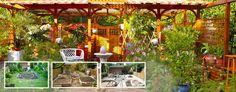 Mediterraner Patio-Garten vorher & nachher · before & after · avant et après