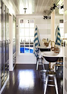 Erin Martin Design - nautical and industrial style bathroom