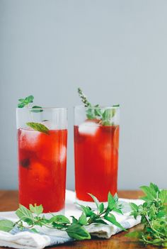 Blackberry Shrub Cocktails with Mint via Brooklyn Supper
