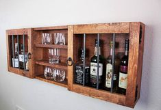 This item is unavailable Diy Pallet Projects, Wood Projects, Woodworking Projects, Woodworking Machinery, Alcohol Cabinet, Liquor Cabinet, Liquor Shelves, Whisky Regal, Rustic Furniture