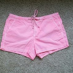 Bright Pink Gap Shorts Bright pink cotton shorts. Zipper and button closure with drawstring. Velcro close back pockets. Super comfy and perfect for the beach! GAP Shorts