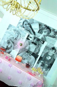 How to make a giant and inexpensive party photo wall