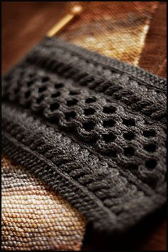 January Scarves by brooklyntweed, via Flickr  Love the honeycomb pattern up the center. This is a WOW scarf