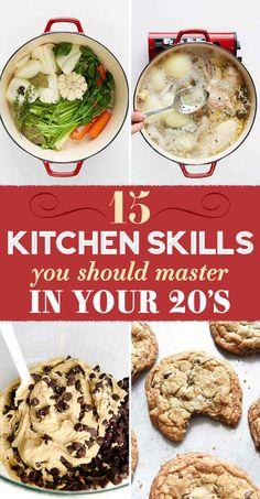 15 Kitchen Skills To Master In Your Twenties