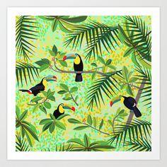 "New in my shop: ""Toucans"" Art Print by Ornaart - $20.00"