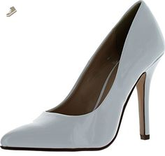 Delicious Womens Date-H Pointed Toe High Heel Pumps,White Patent,10 - Delicious pumps for women (*Amazon Partner-Link)