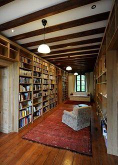 Another Billy Bookcase hack!! La bibliothèque Billy en grande bibliothèque murale en bois