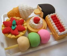Cute plastic food