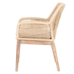 Shop the Lorry Modern Classic Beige Woven Stone Wash Mahogany Armchair - Set of 2 and other Dining Room Chairs at Kathy Kuo Home Dining Arm Chair, Dining Room Chairs, Office Chairs, Ikea Chairs, Kitchen Chairs, Rattan Chairs, Metal Chairs, Dining Furniture, Dining Area