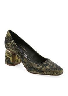 Kensie Women's Lukas Sandal - Black Floral - 8.5M