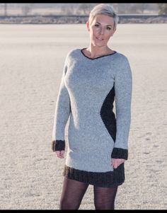 Fitted knitted dress. Pattern available at www.tonesveedesign.no