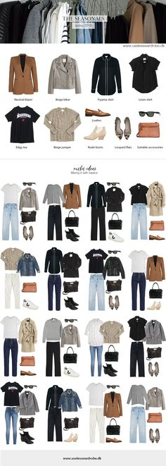 My current capsule: spring 2019. Capsule Outfits, Capsule Wardrobe, Work Fashion, Minimal Fashion, Spring Fashion, Autumn Fashion, Minimalist Wardrobe, Everyday Fashion, Spring Outfits