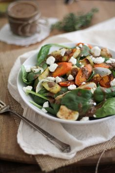 Roasted Root Salad with Balsamic-Date Vinaigrette