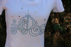 Disney Inspired Cinderella's Carriage Rhinestone Shirt Baby Girls Kids Women's Size 6 months - adult 2XL