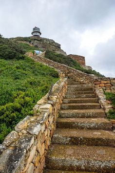 Steps to the Lighthouse at the Cape of Good Hope in South Africa.