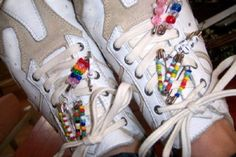 Friendship beadsI even remember having these shoes for YMCA cheerleading!