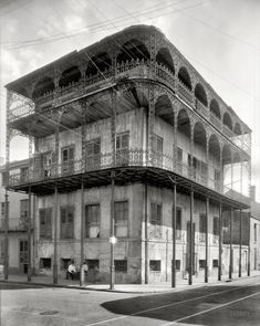 """New Orleans, 1937. """"Le Pretre Mansion, 716 Dauphine Street, built 1835-6. Joseph Saba house."""" Another look at the so-called Sultan's Palace, last seen here. 8x10 inch acetate negative by Frances Benjamin Johnston."""