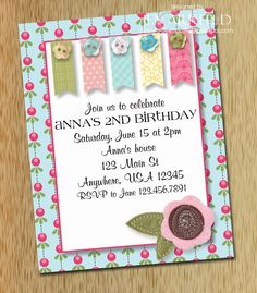 Sweet Pea Invitation  DIY Printable by stampedsilly on Etsy, $12.00