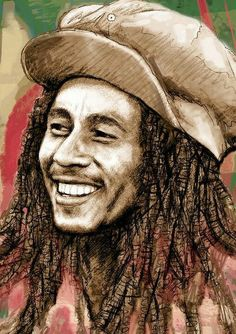 Bob Marley: keeper of the watchful eye, Jah Rastafari. Bob Marley Dibujo, Bob Marley Kunst, Bob Marley Art, Bob Marley Painting, Bob Marley Pictures, Jah Rastafari, Robert Nesta, Nesta Marley, Black Art Pictures