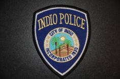 Indio Police Patch, Riverside County, California